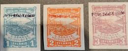 Germany  Privatpost/Stadtbrief Heidelberg 1,2,3,pfg 1887 Michel 23,4,5, - Sello Particular