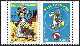France 2003 - Mi 3685C/86C - YT P3547A ( Stamp Day- Lucky Luke And Rantanplan ) MNH** - Ungebraucht