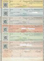 "GREECE, FISCALS, 10 DIFFERENT ""SYNALLAGMATIKI"" (ΣΥΝΑΛΛΑΓΜΑΤΙΚΗ) - Revenue Stamps"