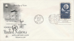 NATIONS UNIES FDC 1957 ORGANISATION METEOROLOGIQUE MONDIALE - FDC