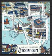 FRANCE 2021. Bloc Capitales Européennes STOCKHOLM - Oblitéré : Cachets Ronds. - Afgestempeld