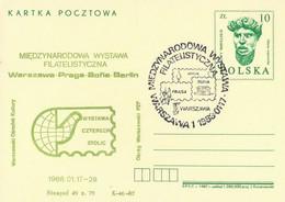 Poland Overprint Cp 963.07 War01: Warszawa Philatelic Exhibition Mermaid - Entiers Postaux