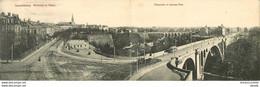 HR LUXEMBOURG. Boulevard Du Viaduc Et Passerelle Nouveau Pont 1912. Carte Panoramique 28 X 8.5 Cm (timbre Manquant) - Luxemburgo - Ciudad