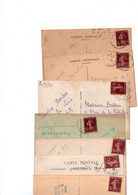 TIMBRES TYPE SEMEUSE CAMEE....15c BRUN...LOT DE 48 SUR CPA.......LOT 4 - 1906-38 Semeuse Camée