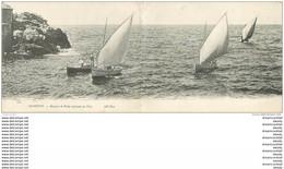 WW 64 BIARRITZ. Carte Panoramique Des Barques De Pêche Rentrant Au Port. ND Phot.Pêcheurs Et Métiers De La Mer Vers 1900 - Biarritz