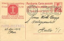 BERN SUISSE ENTIER POSTAL 1913 - Postwaardestukken