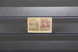 CHINE / CANTON- Oblitération De Ligne Maritime Sur Affranchissement Mixte Chine / Canton Sur Fragment En 1907 - L 100505 - Gebraucht