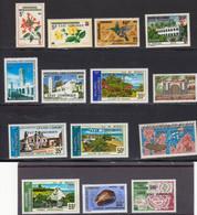 Comores 1975 Yvert 105 /109**, 112/113 **, 116/117**, 120/ 122**, 129** Neufs Sans Charnieres. TP 1967 Surcharges - Komoren (1975-...)