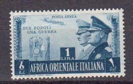 Afrique Orientale Italinne Poste Aerienne 1941 Yvert 20 ** Neuf Sans Charniere. Effigie D'Hitler Et De Mussolini - Africa Oriental Italiana