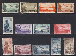 Afrique Orientale Italinne Poste Aerienne 1938 Yvert 1 / 13 ** Neufs Sans Charniere. - Africa Oriental Italiana