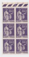 Type Paix N°363 55c Violet Bloc De 6 Haut De Feuille Neuf ** - 1932-39 Peace