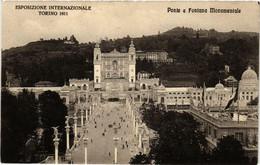 CPA AK TORINO Ponte E Fontana Monumentale ITALY (540576) - Ausstellungen