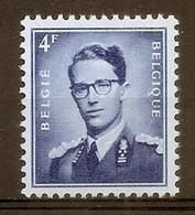 BELGIE Boudewijn Bril * Nr 926c * Postfris Xx * WIT  PAPIER - 1953-1972 Occhiali