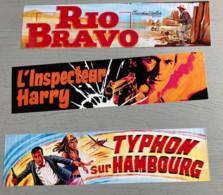 3Signets-Marques Pages 20x5 Cm : Rio Bravo-L'inspecteur Harry-Thypon Sur Hambourg (Expo D'affiches De Façade Peintes Pa - Segnalibri