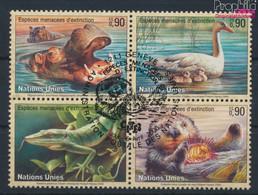 UNO - Genf 385-388 Viererblock (kompl.Ausg.) Gestempelt 2000 Gefährdete Tiere (9634081 - Gebraucht