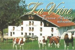 F122 / Publicitaire / Advertising Business Card CARTE De VISITE LA VRINE (25)  FERME HOTEL Restaurant SALOMON - Altri Comuni