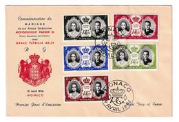 Wedding Of Rainier III And Grace Kelly Commemorative FDC 1956 B210701 - FDC