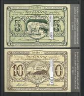 Greenland 2019 Ancient Banknotes Sheet Central Cancel Y.T. F 790/791 (0) - Blokken