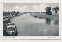 AK 1937 Fischerstadt Weser-Anleger Nach Kleinbahnbrücke Minden - Minden