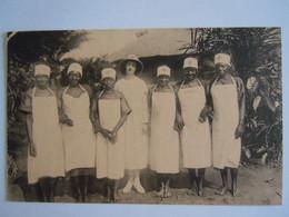 Cpa Congo Belge Croix-Rouge Quelques Infirmières-accouches De L'école à Pawa Verpleegsters-vroedvrouwen - Red Cross