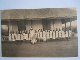 Cpa Congo Belge Croix-Rouge L'école D'infirmiers à Pawa School Voor Verplegers - Croix-Rouge