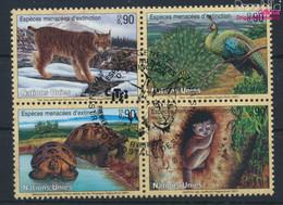 UNO - Genf 409-412 Viererblock (kompl.Ausg.) Gestempelt 2001 Gefährdete Tiere (9633940 - Gebraucht