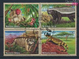 UNO - Genf 434-437 Viererblock (kompl.Ausg.) Gestempelt 2002 Gefährdete Arten: Fauna (9633930 - Gebraucht