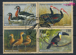 UNO - Genf 466-469 Viererblock (kompl.Ausg.) Gestempelt 2003 Vögel (9633919 - Gebraucht