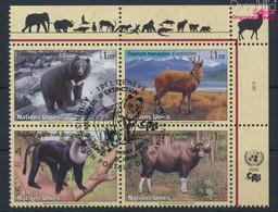 UNO - Genf 482-485 Viererblock (kompl.Ausg.) Gestempelt 2004 Säugetiere (9633913 - Gebraucht