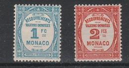 LOT 229 MONACO TAXE N° 27-28 * - Postage Due