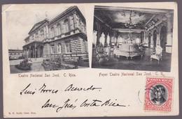 CPA  - Costa Rica - Teatro Nacional San José - Foyer Teatro Nacional San José - 1906 - Costa Rica