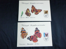 BELG.2013 4321 & 4322 FDC MCARDS : Vlinders - Papillons - 2011-...