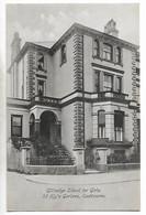 Old Postcard, Eastbourne, Gildredge School For Girls, 32 Hyde Gardens. Street, Building. - Eastbourne