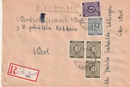 R - Brief Alliierte Besetzung Mit Not R Zettel Werl Vom 21.12.1946 Mit Ziffernausgabe - Amerikaanse, Britse-en Russische Zone