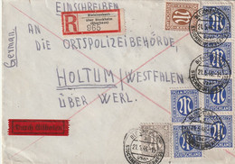 Eilboten R - Brief Alliierte Besetzung AM Post Bleichenbach über Stockheim Vom 21.5.1946 - Amerikaanse, Britse-en Russische Zone