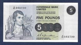 Scotland Clydesdale 5 Pounds 1975 P205c EF/AU - 5 Pounds