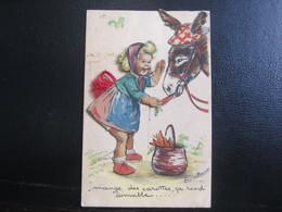 "E- Carte Postale Germaine Bouret ""Mange Des Carottes, ça Rend Aimable..."" - Bouret, Germaine"