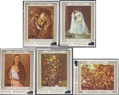 Romania 5482-5486 (complete Issue) Unmounted Mint / Never Hinged 2000 Damaged Paintings - Nuovi