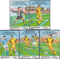 Romania 5180-5184 (complete Issue) Unmounted Mint / Never Hinged 1996 Football European Championship 96 England - Ungebraucht