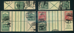 1931, Nothilfe: Hochwertiges Lot Von 5 Zusammendrucken. Dabei S 93, S 95, WZ 5 (2mal) Und WZ 8. Weiterhin Noch WZ 7 Oh - Se-Tenant