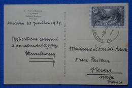 I 2  ANDORRE BELLE  CARTE   1939 ANDORRE VIELLE   A  NEVERS FRANCE+ VALLS PATURAGE  + AFFRANCH. INTERESSANT - Brieven En Documenten