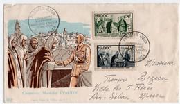 ENVELOPPE PREMIER JOUR . CENTENAIRE De La NAISSANCE DU MARECHAL LYAUTEY. 1954. - 1950-1959