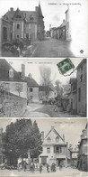 19 - CORREZE - MEYMAC - GRANDE RUE ANIMEE - QUARTIER DE LACHENAL ANIME -PLACE DU MARCHE ANIMEE ( éraflures ! ) - Autres Communes