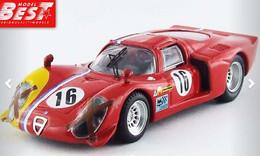 Alfa Romeo 33.2 Coupe - Gosselin/Trosch - Spa 1968 #16 - Best Model - Best Model
