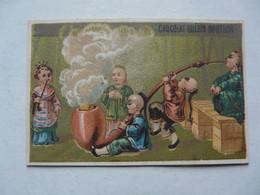 VIEUX PAPIERS - CHROMO : Chocolat GUERIN-BOUTRON : Chinois Fumant Une Pipe - Guerin Boutron