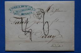 I 18 ESPAGNE BELLE LETTRE 1847 CATALUNA  PALAFRUGELL  A  ST PERRAY FRANCE   + AFFRANCH.INTERESSANT - ...-1850 Préphilatélie