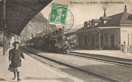 SUISSE VS VALAIS #28984 ST MAURICE LE BUFFET EXPRESS PARIS MILAN LOCOMOTIVE TRAIN - VS Valais