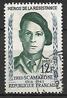 FRANCE    -   1958 .  Y&T N° 1158 Oblitéré.  Fred Scamaroni - Usati