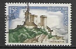 FRANCE    -   1958 .  Y&T N° 1175 Oblitéré.  Château De Foix - Usati