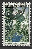 FRANCE    -   1958 .  Y&T N° 1179 Oblitéré.  Armistice  /  Casque De Poilu. - Usati